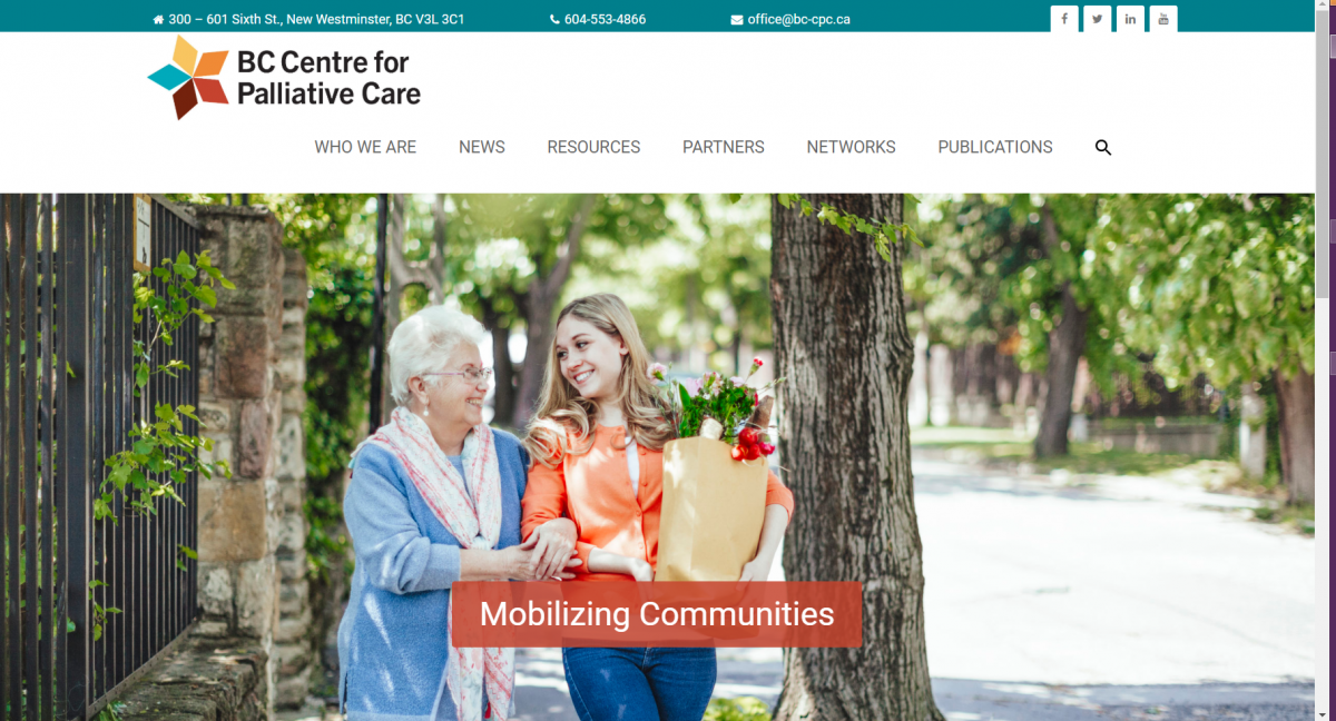BC Centre for Palliative Care Website Design