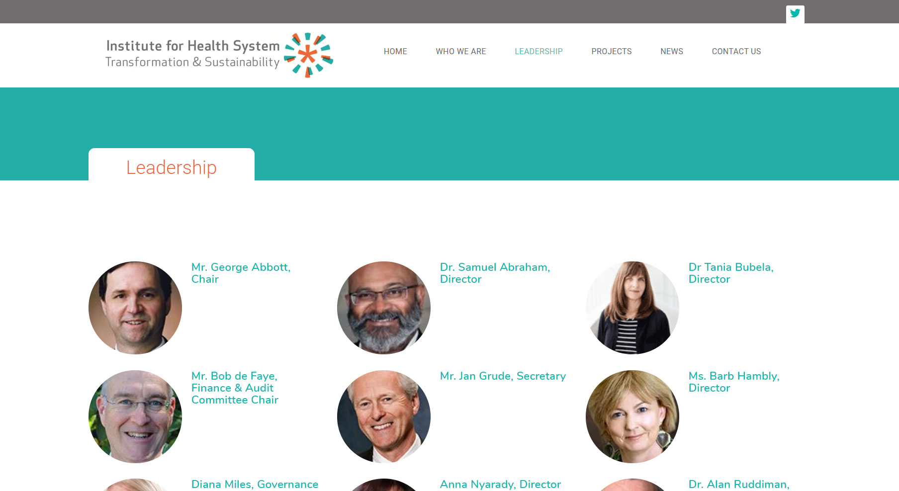 IHSTS Leadership Page