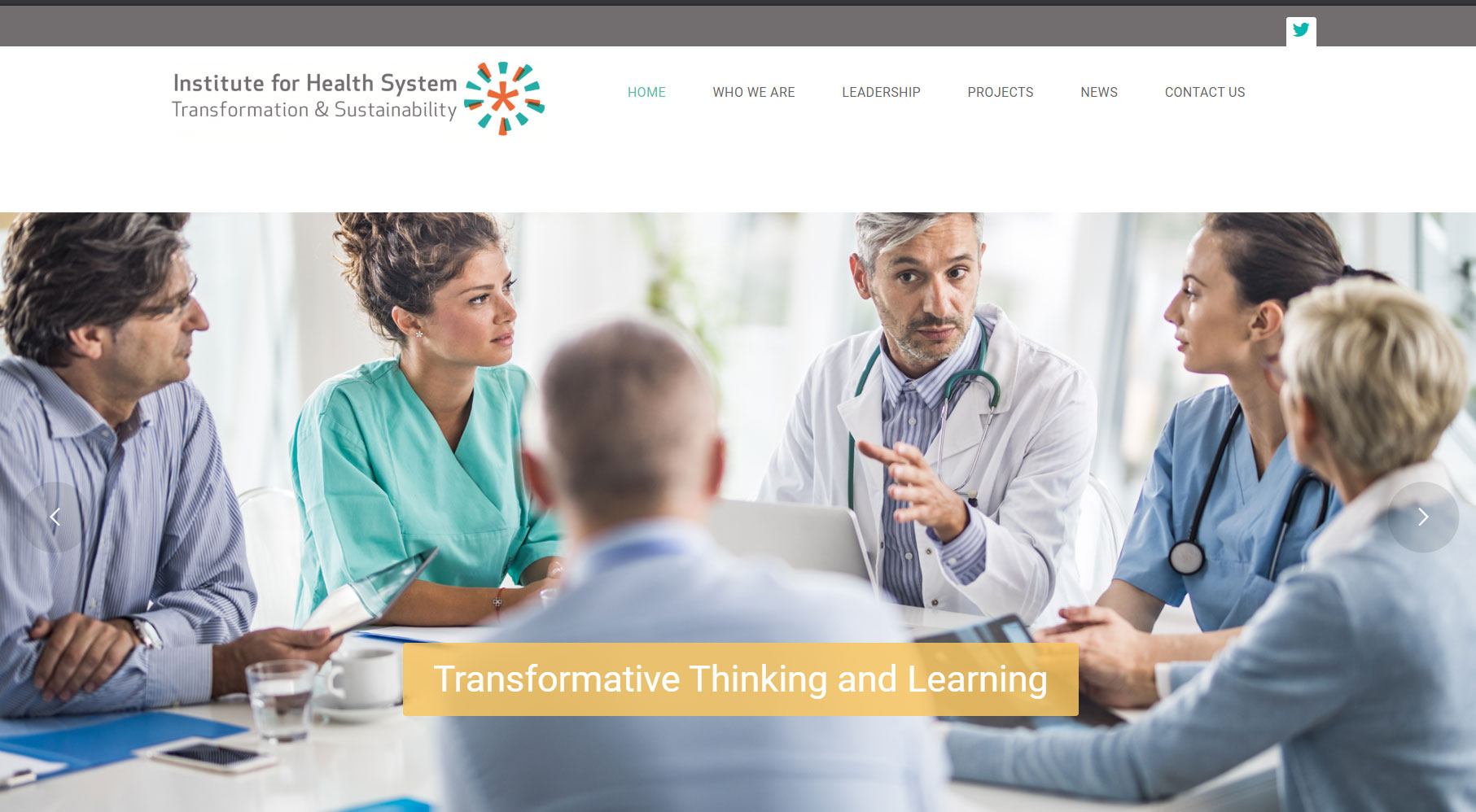 Institute for Health System Sustainability and Transformation Website Home Page