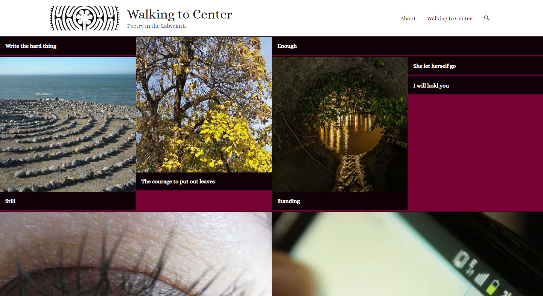 Walking To Center Home Page
