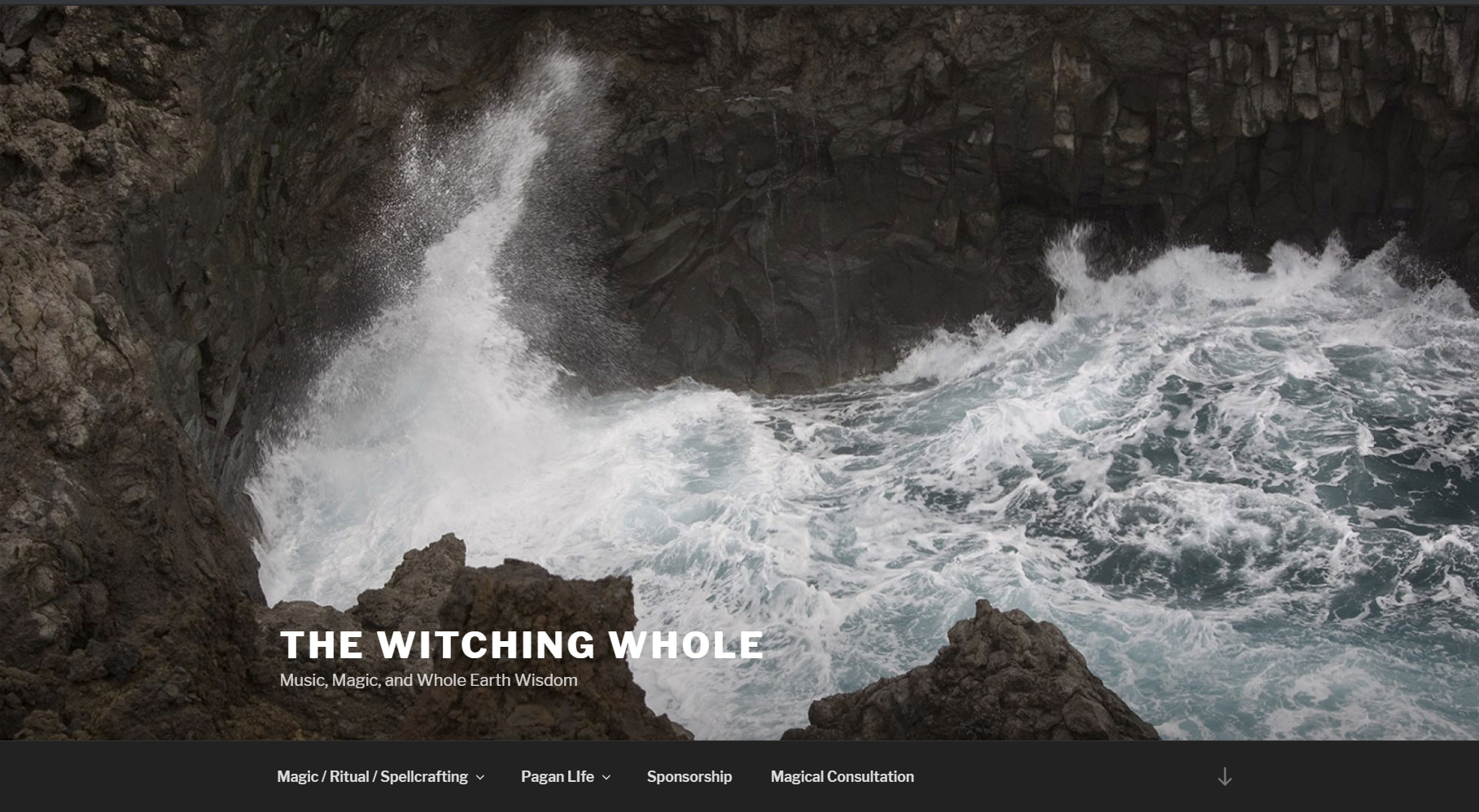 Witching Whole Website Home Page