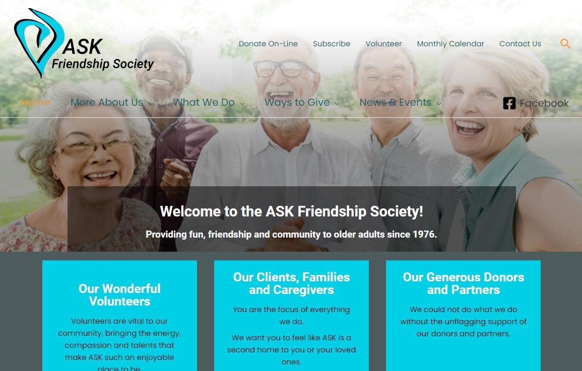 ASK website design by Sophia Kelly - TailoredTech