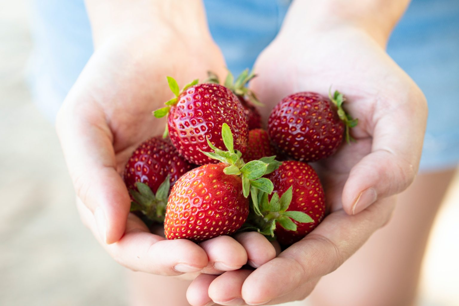 Hands with Strawberries